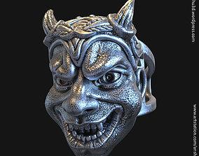 Demon skull vol2 ring 3D print model