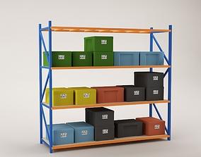3D asset Warehouse Rack Storage 03