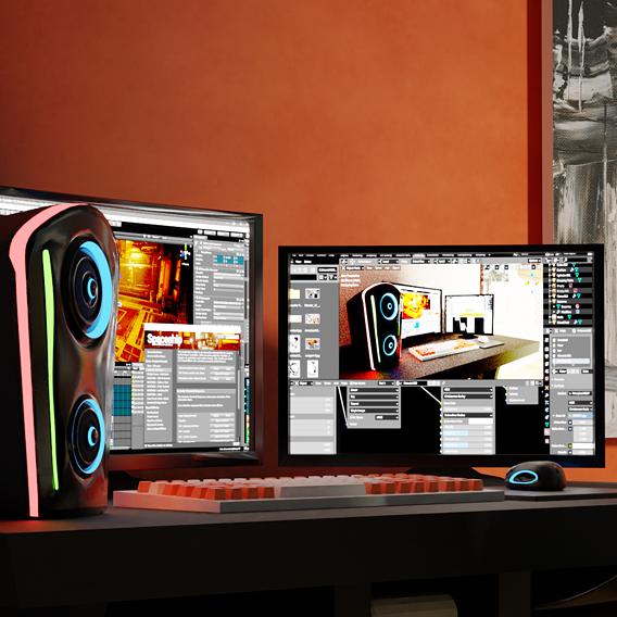 PC Setup 3D model