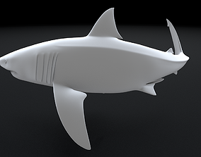 ocean Great White Turn 3D Printable Model