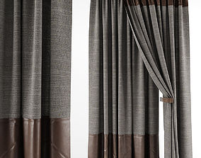 Leather curtains 3D model