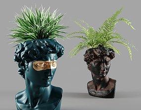 3D head david vase