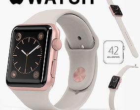 3D model Apple Watch Rose Gold Aluminum Case Stone Sport