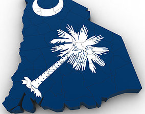 South Carolina Political Map 3D