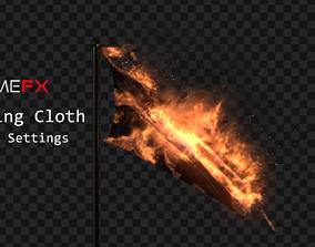 Burning Cloth Fumefx 3D model