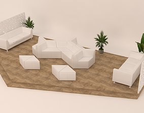 3D Lounge Furniture Set