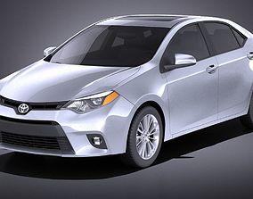 3D model Toyota Corolla LE 2016 USA VRAY