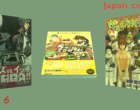 3D model Comics of Japan - set 6
