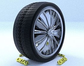 3D model ORTAS CAR RIM 40 GAME READY RIM TIRE AND DISC