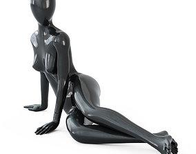 3D model Black female mannequin in a lying pose 51