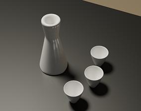 Japanese Sake Set 3D model