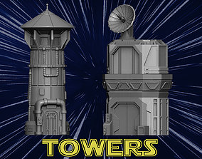 Towers 3D printable model