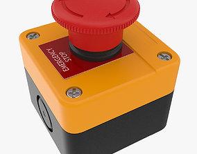 Emergency Button 3D asset