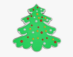 3D model Fir tree Christmas cookie 02