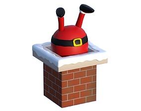 3D Santa Claus chimney