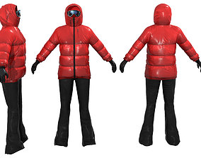Ski Outfit 3D asset