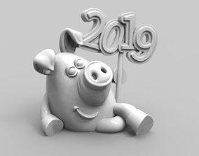 3D print model Pig 2019 character