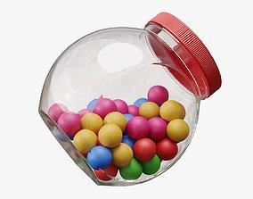 Gumballs in a jar 02 3D model