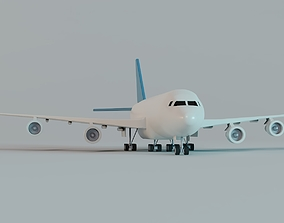 3D model Toy Plane - Commercial Airliner