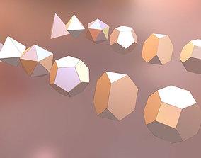 3D model Platonic Solids - Start up shapes No Conversion 1