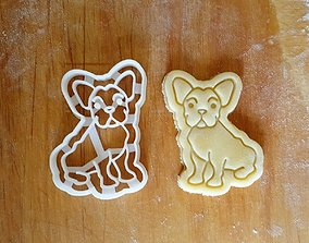 French Bulldog Frenchie Cookie 3D printable model