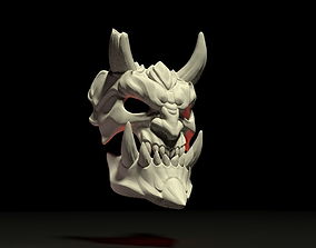 3D printable model demon mask satad