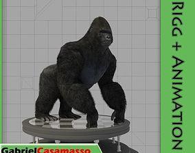 3D asset animated Gorilla