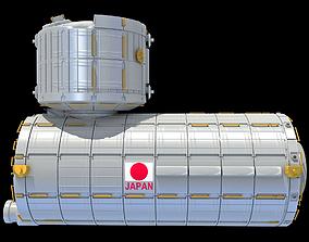 3D model Japanese Experiment Module JEM Kibo