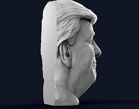 Donald Trump Half Bust - Relief 3D print model
