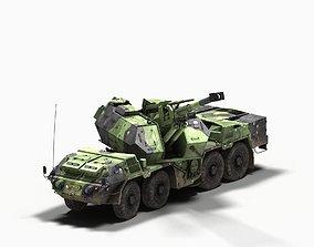 152mm SpGH DANA 3D