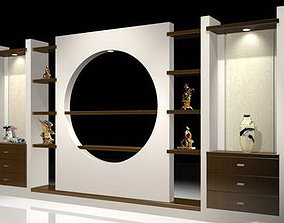 Console 3D Models interior cabinets