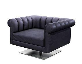 Modern Armchair 3D model gray