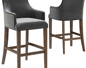 3D model Restoration Hardware Ella Leather Stool