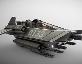 3D model Light Assault Craft Fighter and Cockpit