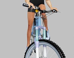 man riding bike 2 3D model