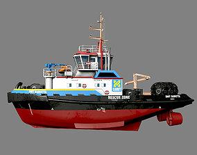 Smith Damietta tugboat 3D model game-ready
