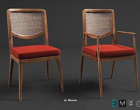 3D model ratan Chair Rattan