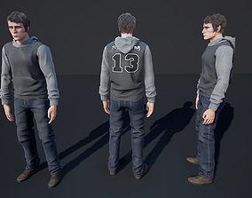 3D asset Man Character Casual 3