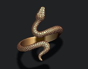 jewel 3D print model snake ring