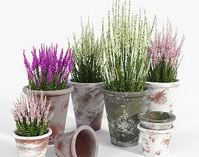 Bondurant Large Heavily Distressed Clay Pot Planter 03 3D