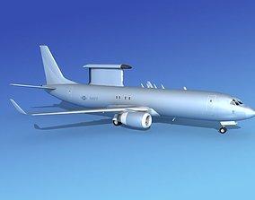 3D model Boeing E-8 Posiedon AEWS US Navy