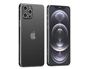 3D model iPhone 12 Pro Graphite