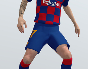 3D model Antoine Griezmann rigged