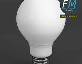 LED Fluorescent light bulb lamp 1 3D model