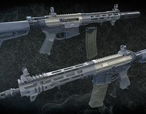 AR 15 3D model rigged