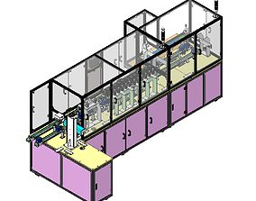 3D model Front section of transformer production line