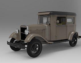 3D Ford Model A 1930 Sedan - Detailed