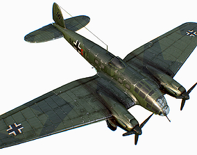 3D model German medium bomber Heinkel He 111 series