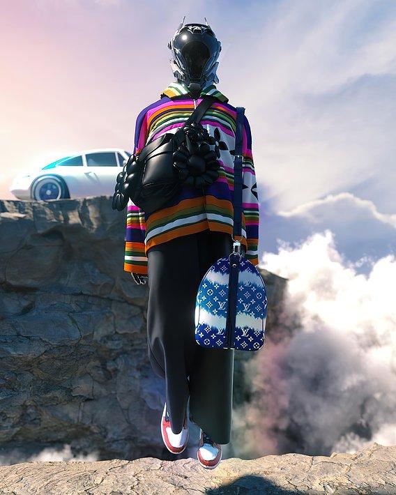 Louis Vuitton x Takashipom 3d virtual Fashion design