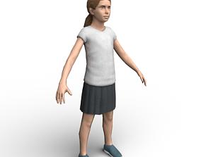 3D model Girl low-poly